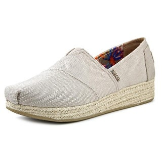 Bobs by Skechers Highlights-High Jinx Women Round Toe Canvas Gray Espadrille
