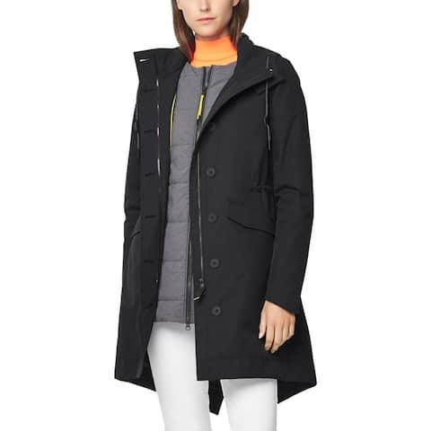 Cole Haan Womens Zerogrand Parka Coat Winter 3-in-1 - Black