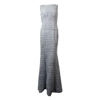 Decode 1.8 Women's Glittered Crochet Sleeveless Dress - Silver - 2