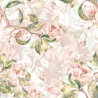 """Spring Branches and Flowers 15.7"""" W x 16.5 'L Peel and Stick Wallpaper Roll"""