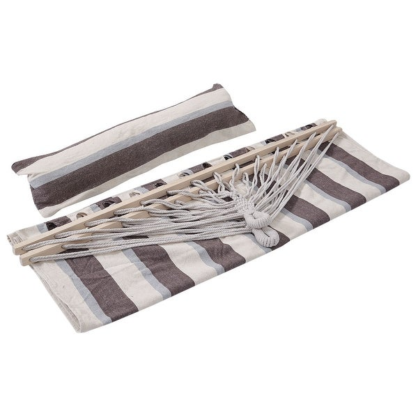 Double Size Hammock Heavy Duty Wood Spreader Bar Polyester-Cotton New