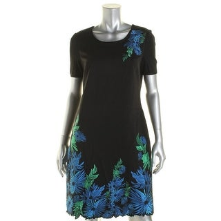 Elie Tahari Womens Embroidered Short Aleeve Wear to Work Dress - 8