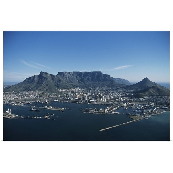 """""""Capetown, aerial view, South Africa"""" Poster Print"""