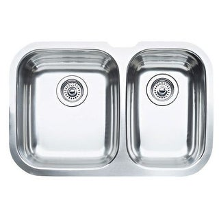"Blanco 440161 Niagara Double Basin Stainless Steel Kitchen Sink 27 1/2"" x 18 1/8"""