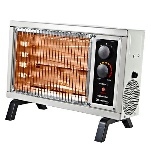 1500w Electric Radiant Space Heater with Adjustable Thermostat, Ivory