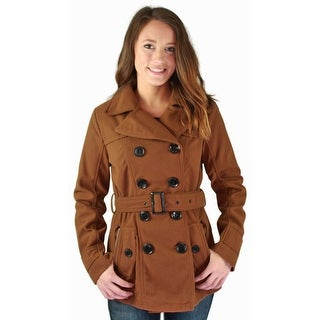 Urban Republic Juniors Double Breasted Fit & Flare Winter Peacoat Coat Jacket