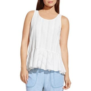 Two by Vince Camuto Womens Peplum Top Linen Striped|https://ak1.ostkcdn.com/images/products/is/images/direct/8e59adab5e452ba785dc5aa1d716a8a8a5bc3343/Two-by-Vince-Camuto-Womens-Peplum-Top-Linen-Striped.jpg?impolicy=medium