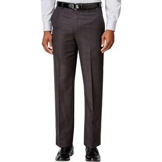 Sean John Mens Dress Pants Glen Plaid Flat Front