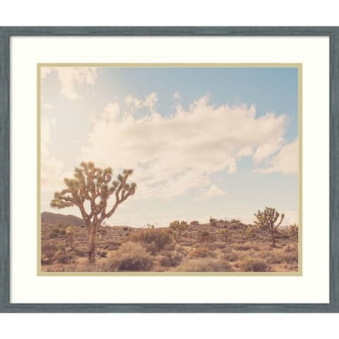 Framed Wall Art Print Sunshine and Joshua Trees by Myan Soffia 26.00 x 22.00-inch