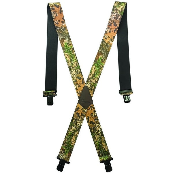 Berne Work Suspenders Mens Embossed Leather Logo 46 Realtree Xtra