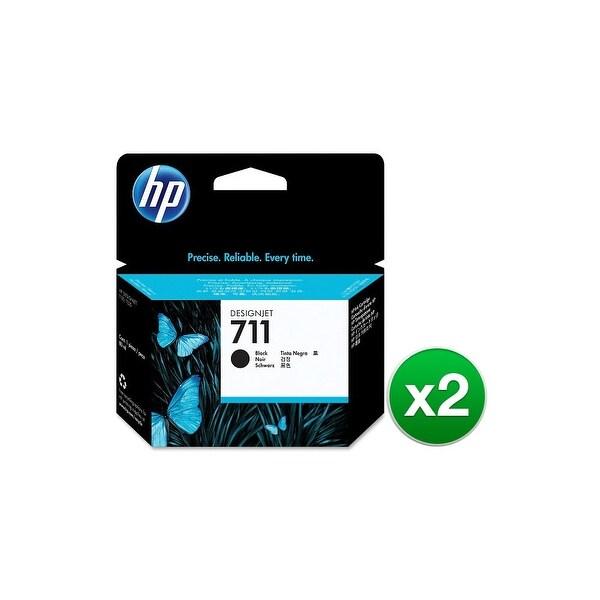 HP 711 29-ml Black DesignJet 3 Ink Cartridges (CZ133A)(2-Pack)