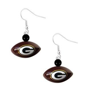 Green Bay Packers Mini Football Dangle Earring