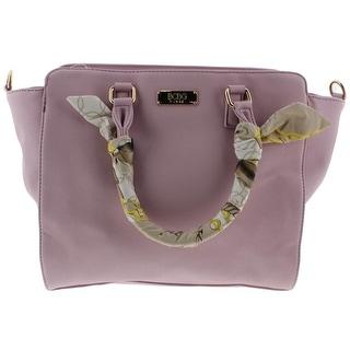 BCBG Paris Womens Satchel Handbag Faux Leather Convertible - MEDIUM