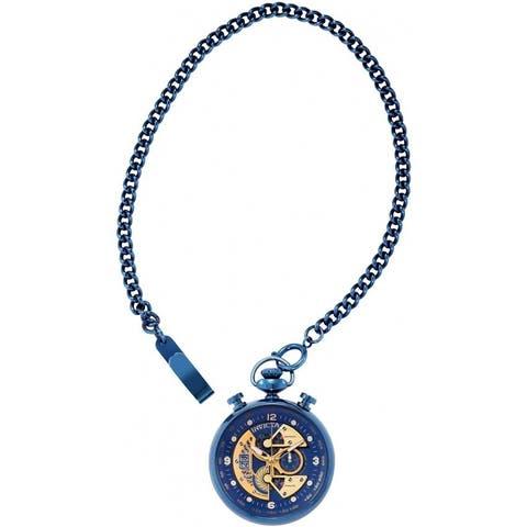 Invicta Men's 34457 'Vintage' Blue Stainless Steel Watch - Black
