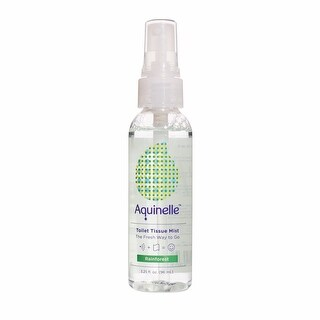 Aquinelle Toilet Tissue Mist, Simply Spray On Folded Toilet Paper, 3.25 OZ Travel Size, Rainforest