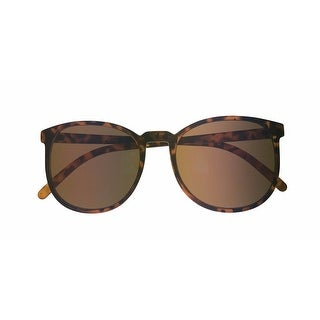 Perry Ellis Mens Plastic Sunglasses Demi Mirrored Front PE57-2, Includes Perry Ellis Pouch, 100% UV Protection - Brown