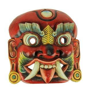 Hand Crafted Wood Lakhey Mask Wall Hanging