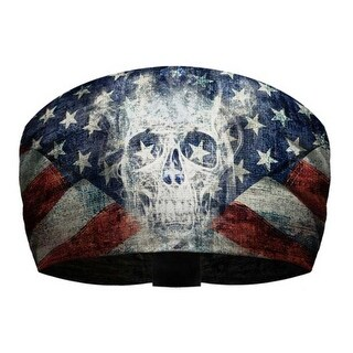 That's A Wrap Unisex Patriotic Ghost Skull Knotty Band, Ultra-Soft Fabric KB2614 - One Size Fits most
