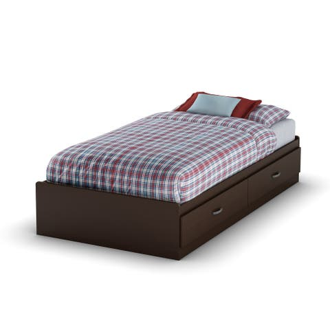 South Shore Logik Mates Bed with 2 Drawers