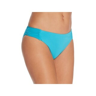 Trina Turk Womens Ruched Solid Swim Bottom Separates