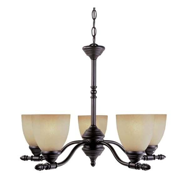 Designers Fountain 94085 Five Light Up Lighting Chandelier from the Apollo Collection - Oil Rubbed bronze