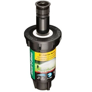 "Rain Bird 1802HEVN15 Adjustable Spray Pop-Up Professional Sprinkler, 2"""