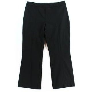 INC NEW Solid Deep Black Women's Size 0X25 Flare Leg Dress Pants