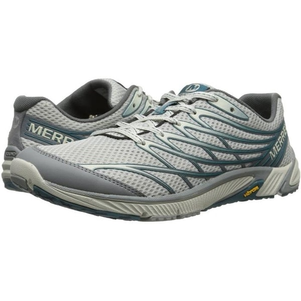 timeless design 4483b fbed5 Merrell Men's Bare Access 4 Trail Running Shoe, Light Grey/Sea Blue (J03919)