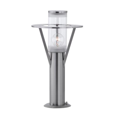 Eglo Belfast 1-light Stainless Steel Outdoor Path Light with Clear Glass