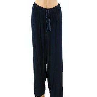 Designer NEW Blue Womens Size 2X Plus Drawstring Sleep Lounge Pants