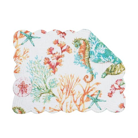 """Chandler Cove Placemat Set of 6 - 13"""" x 19"""" - Rectangle"""