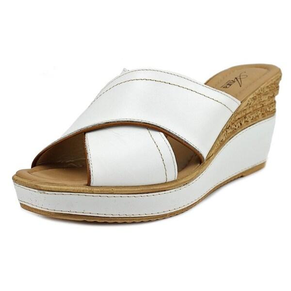Azura Vampiano Women Open Toe Leather Wedge Sandal