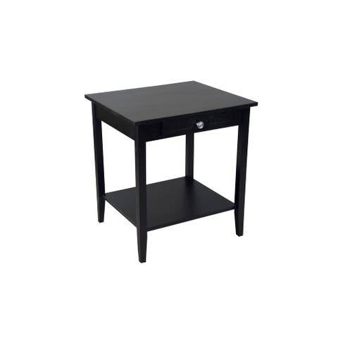 Porch & Den Holly Hill Solid Acacia 1-Drawer End Table