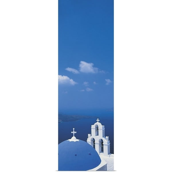Shop Santorini Island Greece Multi Color Free Shipping