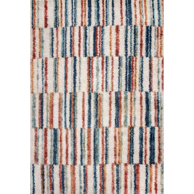nuLOOM Aimee Banded Stripes Shaggy Area Rug
