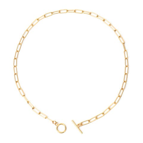 Shop LC Stainless Steel Link Necklace Gift Jewelry Size 20 In - Necklace 20'' Size (20''