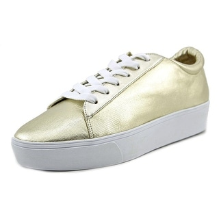 Nine West Hear Me Out Women Round Toe Canvas Gold Sneakers