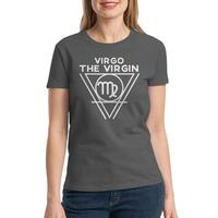 Virgo The Virgin Symbol Women's Charcoal T-shirt