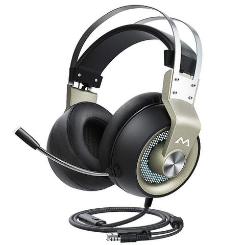 Mpow Gaming Headset Xbox One Headset with 7.1 Surround Sound, PC PS4 Switch Headset with Noise Canceling Mic & LED Light