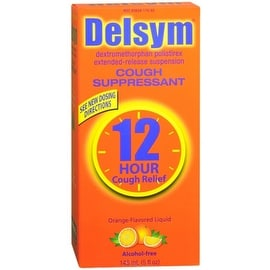 Delsym Extended Release 12 Hour Cough Relief Orange 5 oz
