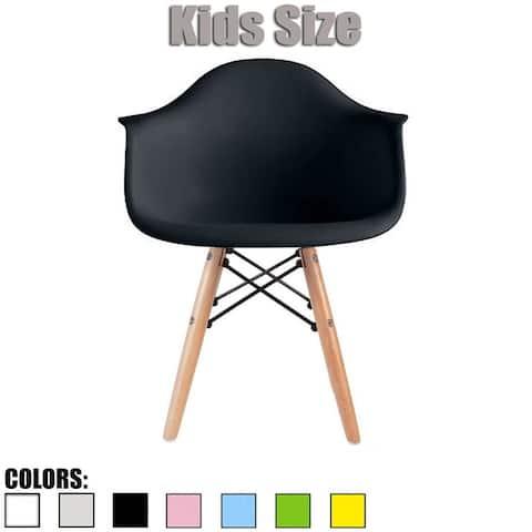 2xhome - single, black Kids Size Armchair Natural Wood Kids Children