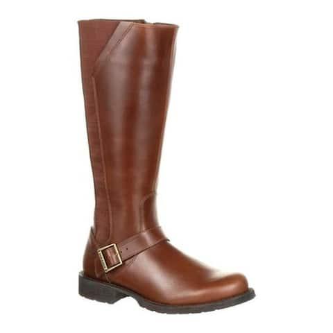 Durango Boot Women's DRD0303 Crush Riding Boot Chestnut Full Grain Leather