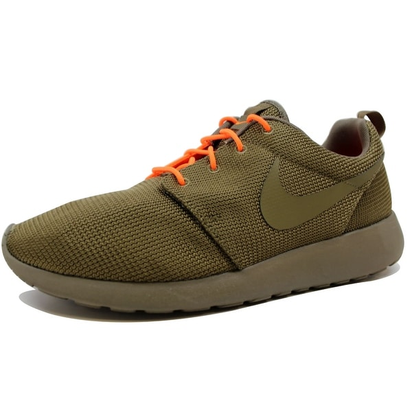 Nike Men's Rosherun Squadron Green/Total Orange 511881-380 Size 12