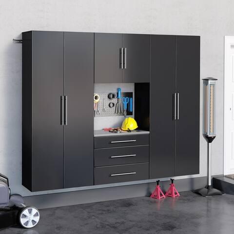 Prepac HangUps 90-inch 4-piece Storage Cabinet Set G