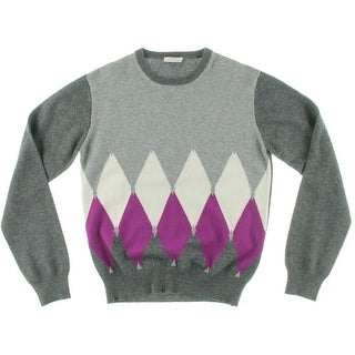 Ballantyne Girls Pullover Sweater Colorblock Ribbed Trim