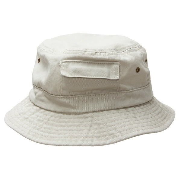 fafa93c260fbe4 Shop Mens DPC Cotton Bucket Hat w/ Pocket - Free Shipping On Orders Over  $45 - Overstock - 16947547