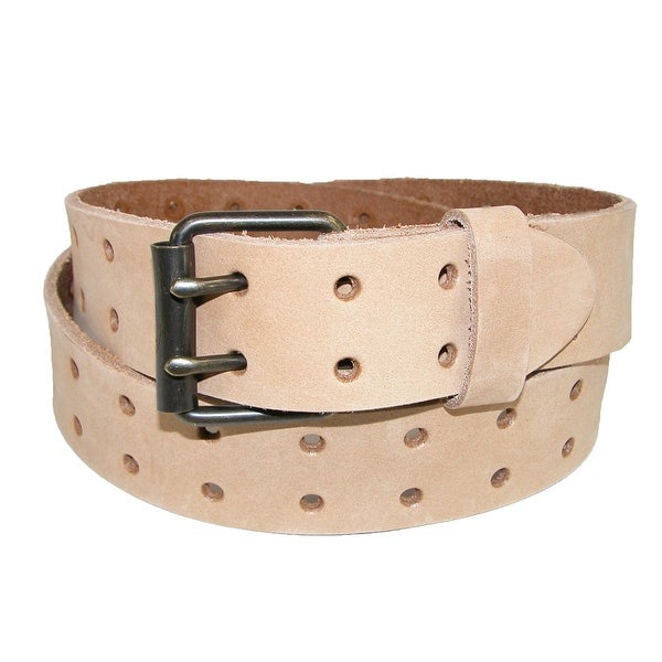 Dickies Men's Leather Two Hole Raw Edge Bridle Belt