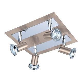 Link to Porch & Den Stono 4-light Matte Nickel Square Ceiling Track Light Similar Items in Track Lighting