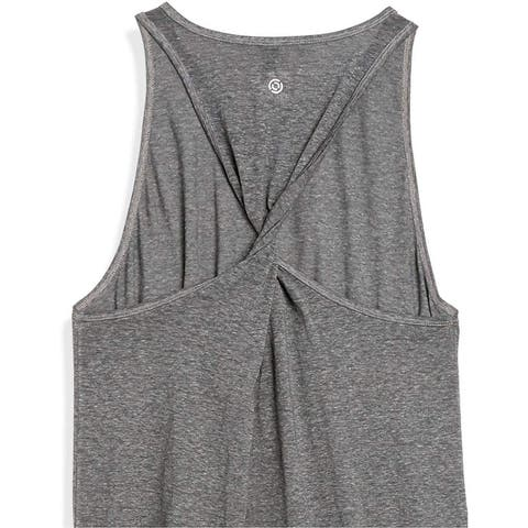 Brand - Core 10 Women's Tri-Blend Twisted Back Workout Tank