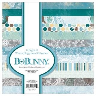 "Bobunny Single-Sided Paper Pad 6""X6"" 36/Pkg-Winter Playground, 12 Designs/3 Each"